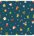 Christmas and Happy New Year flat design pattern vector image vector image