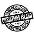 christmas island black round grunge stamp vector image vector image