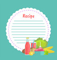 clean note page empty cookbook with food vector image