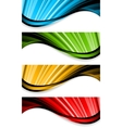 collection bright wavy banners vector image vector image