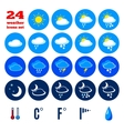 Collection of weather forecast icons vector image vector image