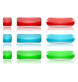 colored glass buttons red blue green web icons vector image vector image