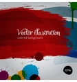 Colored paintbrush vector image vector image