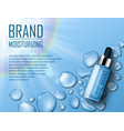 cosmetic moisture product ads premium serum vector image vector image