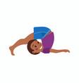 cute cartoon gymnastics for children vector image vector image