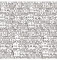 Cute seamless pattern of doodle houses vector image