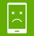 dead phone icon green vector image