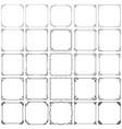decorative vintage frames set 3 vector image vector image