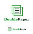 double paper design template logo iconic symbols vector image