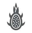 dragon fruit glyph icon fruits and tropical vector image vector image