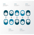e-commerce icons line style set with storefront vector image vector image