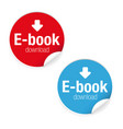 ebook download label sign icon vector image