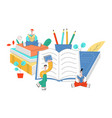education with little people vector image vector image