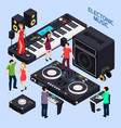 electronic dance music composition vector image vector image