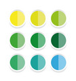 empty sticker label set vector image vector image