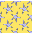 exotic starfishes colorful seamless pattern blue vector image