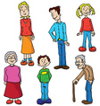 family set vector image vector image