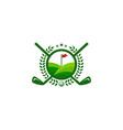 farm golf logo icon design vector image