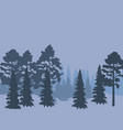 forest landscape abstract nature background vector image vector image