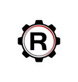 gear solution logo letter r vector image vector image