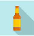 glass bottle of beer icon flat style vector image vector image