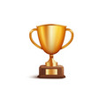 golden championship championship cup first place vector image