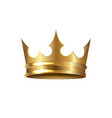golden crown isolated white background vector image vector image