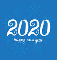 greeting card design template happy new year 2020 vector image vector image