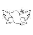 grunge silhouette bird with exotic leaves reserve vector image vector image