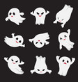 halloween ghost ghostly cute cartoon characters vector image vector image