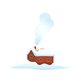 icon house in the snow vector image vector image