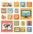 Internet shopping e-commerce concept Icons set vector image vector image