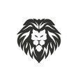 lion symbol isolated on white background vector image vector image