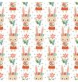 lovely childish wallpaper vector image vector image