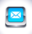 mail 3d button vector image