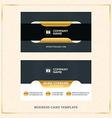 Modern Creative Golden Business Card Template vector image vector image