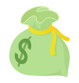 money bag icon isometric style vector image vector image