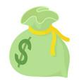 money bag icon isometric style vector image