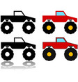 monster truck icon set vector image