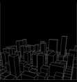 night skyline city abstract town industrial vector image vector image