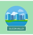 Office building in Silicon Valley vector image vector image