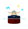 Oil Tanker on White Background vector image