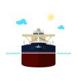 Oil Tanker on White Background vector image vector image