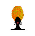 portrait beautiful african woman in turban vector image vector image