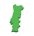 Portugal map silhouette portugal country isolated