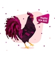 print rooster vector image vector image