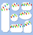 set of labels of different shapes with festive vector image