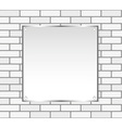 Silver frame on a white wall vector image
