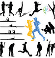 sport players from diferent sports silhouette vector image vector image