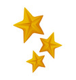 Star shaped objects shiny signs isolated icon